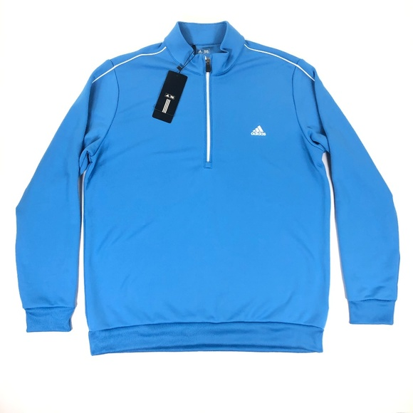 adidas Other - Adidas Mens Golf 3 Stripes 1/4 Zip Sweater